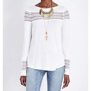 NEW Free People Mesh Top Small White